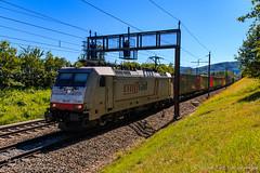 TXL 186 901, Umiken (MacCookie) Tags: 186901 1869015 918061869015dxrail baureihe186 bombardier br186 brugg cbrail cantonofaargau class186 confoederatiohelvetica crossrail crossrailag e186901xr e186901 europe germanrailways kantonaargau macquarieeuropeanrail schweiz suisse svizzera swissconfederation switzerland traxx traxxf140ms txlogistik txl umiken xrail bahn cargotrain containertrain eisenbahn electriclocomotive engine freighttrain güterzug intermodaltrain locomotive piggybacktrain railways zug villnachern aargau