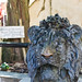 Lion Bust At London Zoo