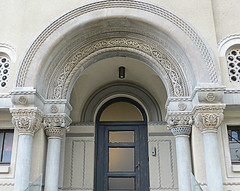 Ornate arched entry (jimsawthat) Tags: architecture architecturaldetails urban bucharest romania