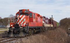 Courtland Departure (Joseph Bishop) Tags: cncayugasubdivision osr 8235 emd gp9 courtland ontario trains train track tracks railfan r railroad railway rail rails