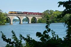 UP 2319 Decatur, IL (lewismarien) Tags: train railroad decaturil decaturillinois ns ns181 autopartboxcar boxcar lakedecatur up unionpacific triclops prlx leaser bn burlingtonnorthern emd sd60m sd70mac up2319 prlx9555 bnsf9555 bn9555