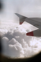 View from Aeroplane from Gatwick (Matthew Huntbach) Tags: clouds aeroplane gatwick flight fujiindustrial100