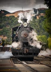 Skookum Steam Up No.3 (CDay DaytimeStudios w /1 Million views) Tags: cloudysky railroading landscape sunol steamengines railequipment nilesca locomotive hills california hillside nilescanyonrailroad