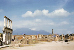 The Forum, Pompeii, Italy, 1950s (gbfernie5) Tags: juliavanderveerrees italy pompeii 1950s kodachrome vacation holiday