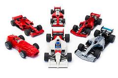 Formula 1 Collection | 1/9/2020 (1) (Noah_L) Tags: lego moc mercedes amg f1 w10 eq power ferrari sf90 mclaren mp46 sf16h f2007 maserati 250f t2 tipo2 car racecar formulaone formula1 noahl creation myowncreation