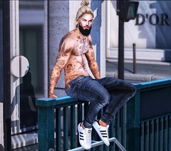 Someone You Loved (IannCatronis - catronisblog) Tags: bolson kalback beard blonde fashion guy hair jeans men secondlife street tattoo themensdept tram uber versov virtual