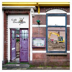 The demise of Café Overheijde (leo.roos) Tags: caféoverheijde monster westland demolition sloop purple door window pub cafe restaurant wall gevel facade decay nl deur raam verval vervaldeur vervalgebouw vervalraam vervalstad paars destruc nex6 nex samyang12mm120ncscse samyang1220 apsc emount darosa leoroos