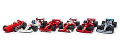 Formula 1 Collection | 1/9/2020 (2) (Noah_L) Tags: lego moc mercedes amg f1 w10 eq power ferrari sf90 mclaren mp46 sf16h f2007 maserati 250f t2 tipo2 car racecar formulaone formula1 noahl creation myowncreation