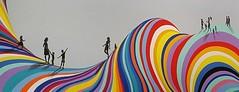 Wellington mural (Gillian Everett) Tags: mural wellington zealand new car cable