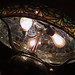 peacock table lamp interior detail - Tiffany Studios