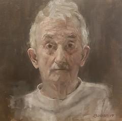 """Man in the mall""  oil on linen, 2019 (.carito.) Tags: pinturaalóleo oil oilpainting arte art modernart retrarto portrait hombre man"