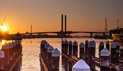 Harbour Sunset (richardmusumeci) Tags: melbourne2020 sun bridge docklands sunset water harbour pier