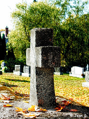 ... (Jean S..) Tags: fall autumn outdoors trees graves cross cemetery