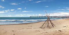 On the beach. (Bernard Spragg) Tags: ocean sky seascape beach lumix coast pier surf shore compactcamera ts200 newbrighton coastline soe