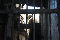 Gate and Stairs (fotophotow) Tags: philadelphia easternstatepenitentiary