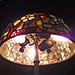 apple blossom table lamp interior detail - Tiffany Studios