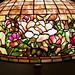 peony border floor lamp detail - Tiffany Studios