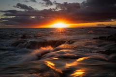Hawaiian Dreams (Hilton Chen) Tags: bigisland hawaii kona landscape lavarocks longexposure ocean pacificocean sunset sunstar tide