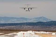 Coming in for landing. (M///S///H) Tags: jet 328 dornier dornier328jet 500mm dornier328 lenstagger a7riii highdesert landing nikon500mmf4 planelanding planespotting runway supertelephoto taosair taosregionalairport