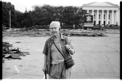 The Man at the ruined area (Alimkin) Tags: 35mm 35mmphotography 35mmfilm believeinfilm blackandwhite bw bnw monochrome canon city donbass documental film filmphotography filmisnotdead grayscale kramatorsk life photojournalism people portrait street streetphotography shootfilm streetshot saveanalogcameras society streetlife