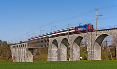 SBB Re421 394 (maurizio messa) Tags: nikond90 mau bahn ferrovia zürich switzerland svizzera ponte bridge brücke treni trains railway railroad re44ii re421 ec eurocity ec187