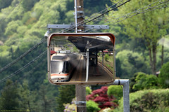 Japan Rail (Rick & Bart) Tags: city japan canon kyoto unesco 日本 nippon shirakawago 白川郷 landoftherisingsun worldculturalheritagesite rickbart rickvink eos70d travel train mirror transport jr rails