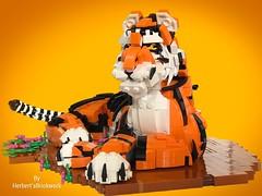 The Tiger (leebutbut) Tags: bigcat tiger animal legoart legobuild legomoc lego