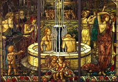 Bernhard Kraus, Jungbrunnen - Fountain of Youth - Detail (HEN-Magonza) Tags: landesmuseummainz jungbrunnen fountainofyouth farbglas stainedglass bernhardkraus rheinlandpfalz rhinelandpalatinate deutschland germany jugendstil artnouveau