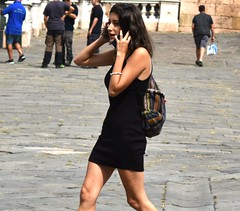 Cathedral square (thomasgorman1) Tags: genoa italy square carhedral urban city woman people travel tourism tourist nikon street streetshots candid cellphone streetphotos public piazza