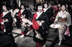 Hello (sKamerameha) Tags: geisha parade festival street people makeup kimono human downtown city happyplanet asiafavorites