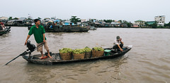 Cai Rang Floating Market in Can Tho, Vietnam (phuong.sg@gmail.com) Tags: activity air amazing asia asian atmosphere boat business busy canal chanel color colorful crowd crowded day delta farmers flea float floating flood gray group indochina landscape landscaping lively market mekong open people person poor poverty river row rowing scene spring summer sunny trade travel vietnam vietnamese water women wooden