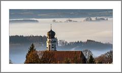 Von Kirche zu Kirche (From church to church) (alfred.hausberger) Tags: kirche bad griesbach langwinkl kirchturm nebel landschaft