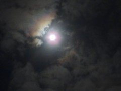 Full Moon and Corona In Moving Rain Clouds ☁️ (Chic Bee) Tags: astronomy astronomical canonpowershotsx70hs moon fullmoon lunarcorona lunaraureole lunar imagepostprocessing experimental colorful explained opticalphenomena sky nightsky rainclouds movingclouds