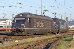 BLS Re 465 015 + 465 010 Basel Bad (daveymills37886) Tags: bls re 465 015 010 basel bad baureihe bombardier