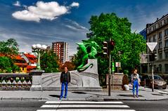 Ljubljana - Dragon Bridge (Marco Trovò) Tags: marcotrovò hdr canoneos5d slovenia lubiana architecture architettura strada street città city monumento monument pontedeidraghi dragonbridge ljubljana zmajskimost