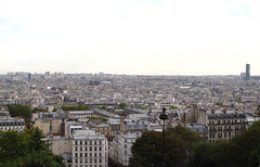 View from Montmartre over Paris