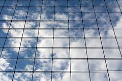 Clouds and lines (Jan van der Wolf) Tags: map200418v reflection spiegeling building architecture architectuur facade gevel netwerk network clouds wolken lines lijnen lijnenspel playoflines interplayoflines rotterdam geometric geometry gebouw geometrisch geometrie