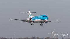PH-KZP   Fokker F70 - Cityhopper (Peter Beljaards) Tags: phkzp klmcityhopper fokker fokkerf70 ams eham nikon7003000mmf4556 airplane aircraft schiphol haarlemmermeer aviationphotography rollsroyce msn11539