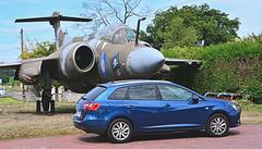 SEAT Ibiza and a Blackburn Buccaneer XW530 (M McBey) Tags: car plane jet blackburn buccaneer seat ibiza raf display relic coldwar nuclear lossiemouth elgin scotland