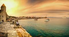 Mandraki (ville_v) Tags: mandraki rhodos rhodes rodos greece sunset port haven