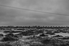 Signs of Habitation, Kent Coast (Bryan Appleyard) Tags: kent coast wires houses bungalows blackandwhite monochrome d850 nikon marshes heath
