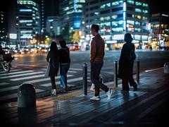 2015/1730'z (june1777) Tags: snap street alley seoul night light bokeh fujifilm gfx 50r canon ef 50mm f10 ii 1250 cityhall crosswalk adcn art4