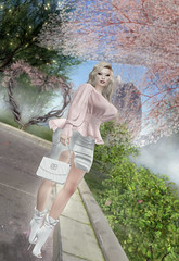 """""""Oh my God, I see the way you shine Take your hands, my dear, and place them both in mine"""" (Emerald.Dahlia) Tags: pink heart love dance shoping virtualphotography photography handbag secondlife secondlifemodel secondlifeavatar avatar"""
