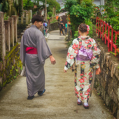 Won't you stay with me? (Shawn Harquail) Tags: fushimiinaritaisha japan kyoto shawnharquail streetphotography summer tokyo fencefriday hff kimono outdoor outdoors outside people shawnharquailcom shrine