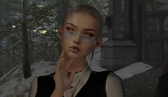 bald chicks (Tympany) Tags: skinhead bald genus evermore dami bus pumec secondlife mbirdie glasses shades cigarette smoke smoking hoops earrings elysion