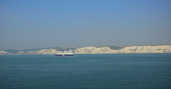 The Cliffs Of Dover And A Ferry Who Goes To Calais - Kent (UK) (Last Border of the Picture) Tags: the cliffs of dover and a ferry who goes to calais kent uk gb great britain united kingdom england english channel sea chalk hill