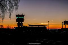 """Limoges international airport"" (steflgs) Tags: limoges limousin hautevienne open aeroport airport leverdesoleil sunries ciel sky"