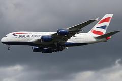 British Airways G-XLEC LHR 06/08/19 (ethana23) Tags: planes planespotting aviation avgeek aircraft aeroplane airplane airbus a380 ba britishairways speedbird