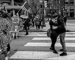 Mummers New Year's Day Parade, 2020 (Alan Barr) Tags: philadelphia 2020 mummer mummersparade mummers newyear parade street sp streetphotography streetphoto blackandwhite bw blackwhite mono monochrome candid city people olympus omd em1ii