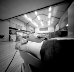 Giving Blood (Andrew Bartram (WarboysSnapper)) Tags: pinhole blooddoning ilfordphoto hp5 rss 6x6 film realitysosubtle squareformat